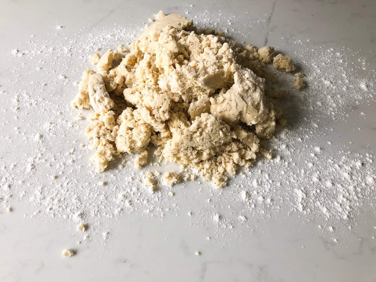 Shortbread shaggy dough