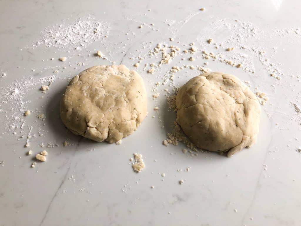 Shortbread dough ball