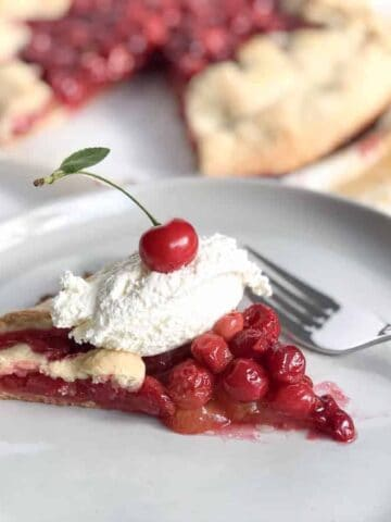 Bourbon Cherry Crostata