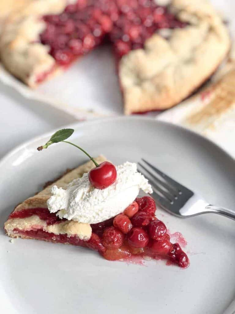 Bourbon Cherry Crostata Close Up