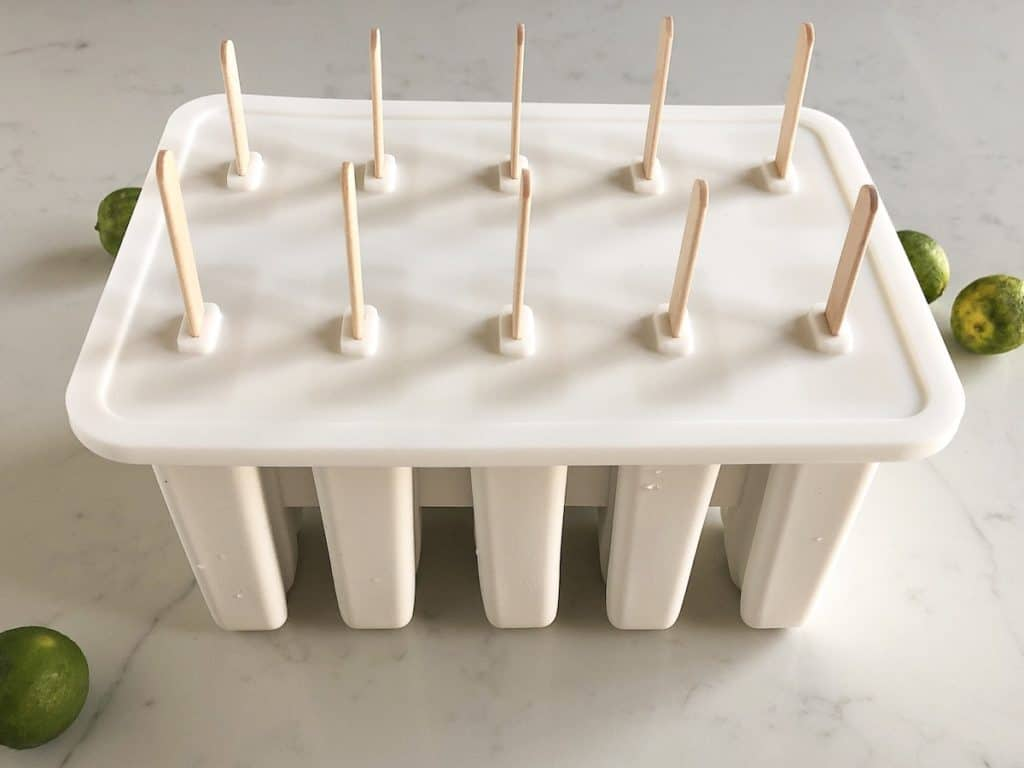 Popsicles in silicone popsicle mold