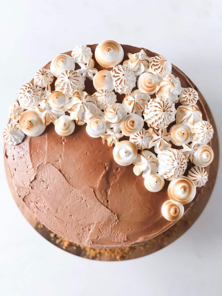 Nutella S'mores Cake