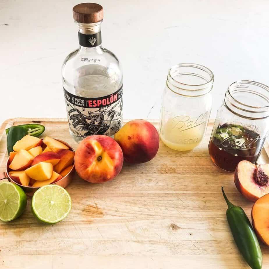 Spicy Peach Margarita Ingredients