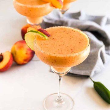Spicy Peach Margaritas