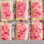 6 pop tarts with strawberry glaze